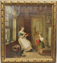 interior genre scene by percival de luce