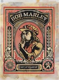 bob marley by shepard fairey