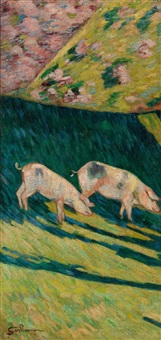 les porcs by armand guillaumin