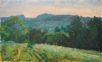 mountain landscape by louis b. sloan