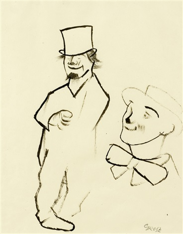 zwei clowns by george grosz