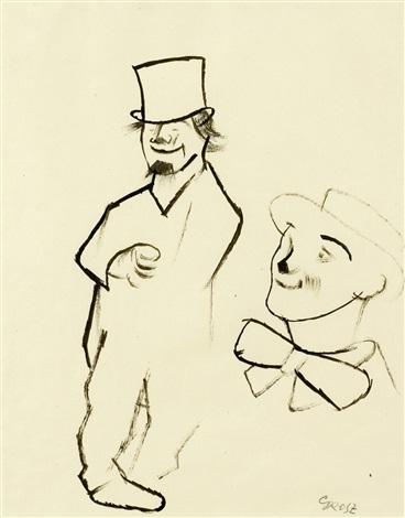 zwei clowns by george grosz