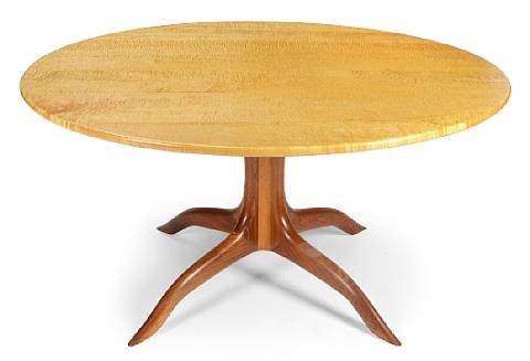a circular table and four spindle chairs set of 5 by sam maloof