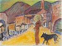 heiliger franziskus und wolf by marianne werefkin