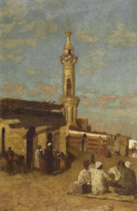 a view of the old mosque near the citadel in cairo by william graham