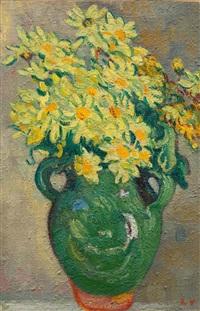 marguerites jaunes au pichet vert by louis valtat