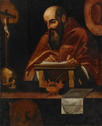 sankt hieronymus i hans studio by scipione pulzone