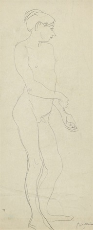 au cafe sold with 326b set of 2 by jules pascin