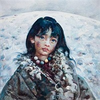 藏族女孩 by ai xuan