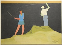 untitled (fishing) by milton avery