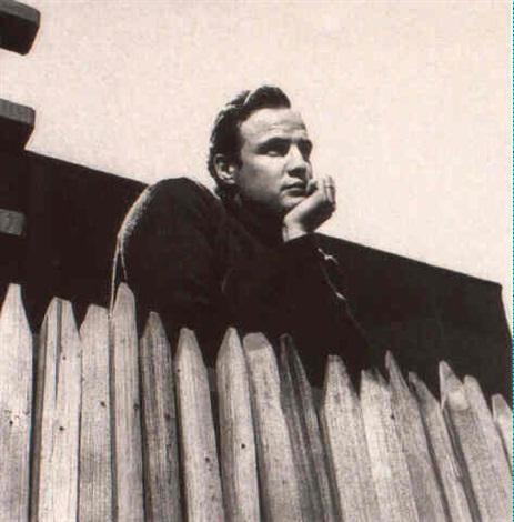 marlon brando in his home for article in saturday evening post by sid avery