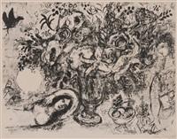 nu aux fleurs by marc chagall
