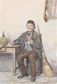 schreibender grossvater by a. mattolini