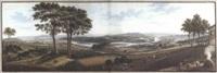 grosses panorama vom bözberg aus auf das aaretal mit brugg, königsfelden, habsburg, schinznach, wildegg und die alpen im hintergrund by rudolf huber