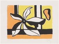 blume. komposition in gelb und orange by fernand léger