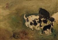 puppies by s. sudjojono