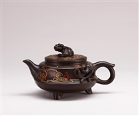 auspicious snow teapot by bao zhongmei and shi xiuchun