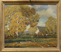 autumn sycamores by arthur hill gilbert