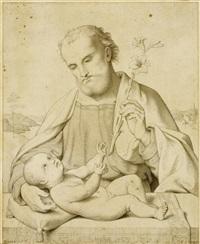 der heilige josef mit dem jesusknaben by peter becker