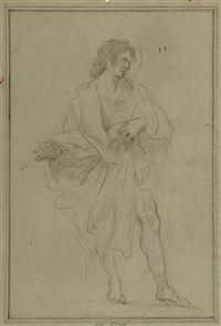 studie zu einem stehenden heiligen by sebastiano conca