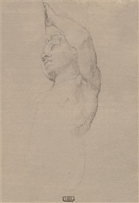 study of a standing angel by pompeo girolamo batoni
