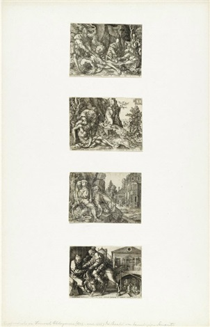 die parabel des barmherzigen samariters set of 4 by heinrich aldegrever