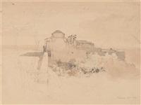 vue de pouzzoles by alexandre calame