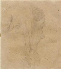 porträt einer frau im profil by albert anker