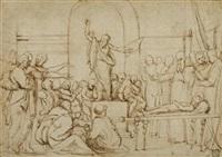 ein apostel predigt bei einem begräbnis by giovanni battista di matteo naldini