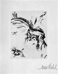 die erlösten. zehn totenmasken. radierungen ... mit zwei gedichten des künstlers (bk w/10 works, title and justif.) by arno nadel