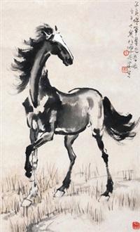 立马图 镜心 设色纸本 by xu beihong