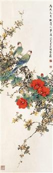 茶花鹦鹉 by liu hongyao