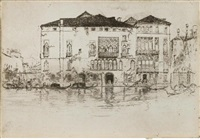 the palaces, pl. 9 (from twelve etchings) by james abbott mcneill whistler