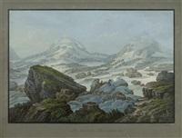 la source de rhin intermediat, par louis bleuler a schafhouse by johann ludwig (louis) bleuler