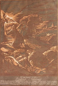 the annunciation to the shepherds (after j. bassano) by john baptist jackson