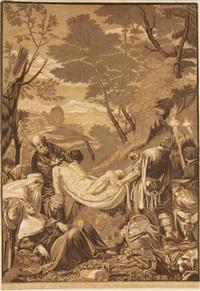 the entombment (after j. bassano) by john baptist jackson