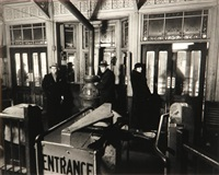 el station interior, 6th and 9th avenue lines, downtown side, columbus avenue and 72nd street, manhattan, february 6, 1936 by berenice abbott