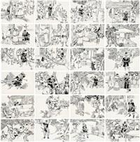 智取生辰纲 连环画原稿(全) (original work of comic strip taking the cargo of birthday gifts by strategy (complete)) (130 works) by luo zhongli