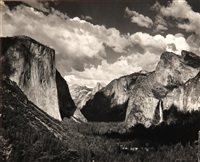 yosemite valley, inspiration point by ansel adams