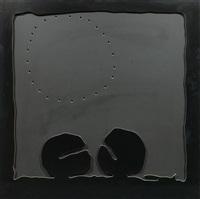 concetto spaziale - teatrino (nero) by lucio fontana