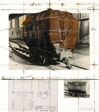 package on a hunt, project for goslar by christo and jeanne-claude