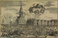 de waegh en kaes-marckt van de stadt alckmaer by romeyn de hooghe