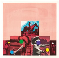 north american indian (red) by john baldessari