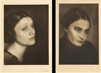selected portraits of women (4 works) by ben magid rabinovitch