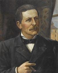 porträt von herrn <b>oscar miller</b> (+ porträt seiner ehefrau emilie; ... - walter-vigier-portr%C3%A4t-von-herrn-oscar-miller-(+-portr%C3%A4t-seiner-ehefrau-emilie;-pair)