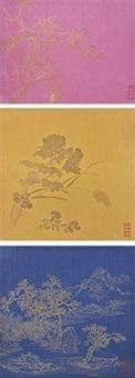 乾隆年仿澄心堂手绘笺纸 by anonymous-chinese (qianlong)