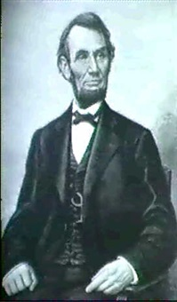 lincoln seated by franklin c. courter