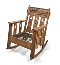 jockeys and steeds rocking chair by arts & crafts