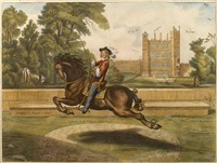 equestrian scenes (4 works) by william cavendish