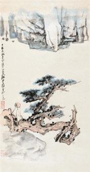 坐看云起时 立轴 设色纸本 by zhang daqian
